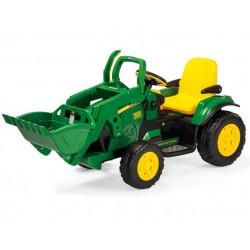 Excavator John Deere 12v - tractor Peg-Pérego Exhausted